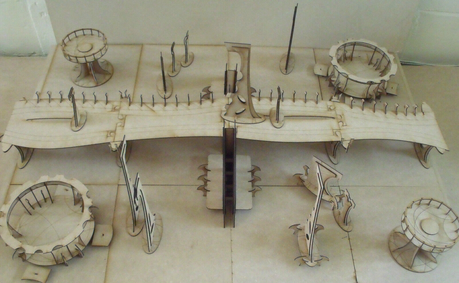 Warhammer 40k apocalypse city fight Table top Wargames scenery terrain Eldar
