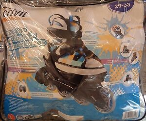 Kinder Softboot-Inlin<wbr/>eskates*29-33*<wbr/>Crivit Sport*Weiß,Bla<wbr/>u,Orange * Neu