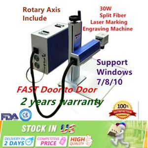 USA-30W-Split-Fiber-Laser-Marking-Machine-Engraving-Equipment-Engraver-FDA-CE