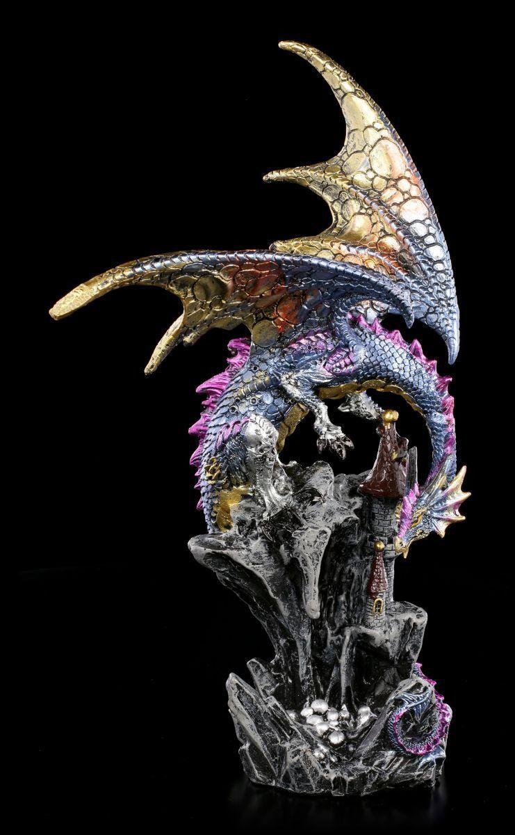 Figura de Dragón - rotitus auf BURG - Fantasía Estatua Decoración Escultura