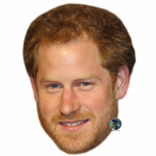 Celebrity Mask Prince Harry Card Face and Fancy Dress Mask Beard