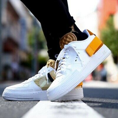 Nike Air Force 1 Low Type N.354 Sneakers Men's Lifestyle Comfy Shoes WhiteGold | eBay