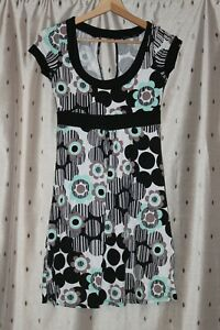 Jane-Norman-Pretty-Floral-Stretch-Viscose-Dress-Size-10