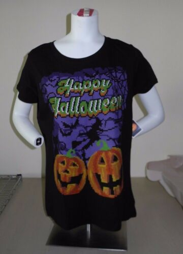 HAPPY HALLOWEEN Pumpkin Forest Witch T-SHIRT Tee WOMEN/'S Size XL NEW W//TAG!