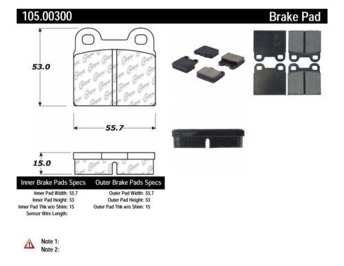 Disc Brake Pad Set Rear,Front Centric 105.00300