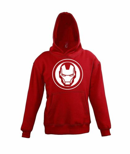 Fun Kinder Hoodie Kapuzen Pullover Iron Man Stark Avengers Steel Held Geek