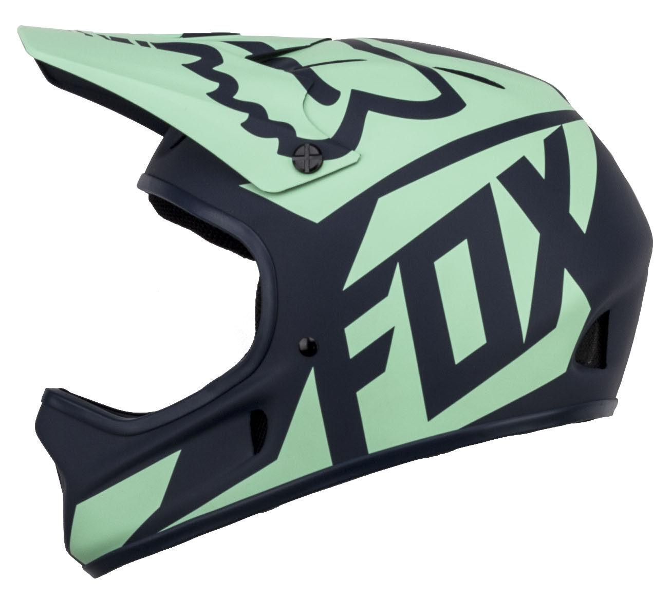 CASCO FOX MTB RAMPAGE RACE NAVY/LIGHT blu ULTIMA TAGLIA L