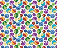 Framed Emoticons Fabric Multi
