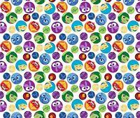Framed Emoticons Fabric Multi