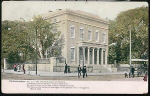 PHILADELPHIA-PA-Dundas-Lippincott-Yellow-Mansion-Antique-Postcard-Old-Vtg-PC