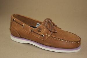 Details about Timberland Amherst 2 Eye Boat Gr 41 US 9,5 Ladies Boat Shoes Deck Shoes 11645