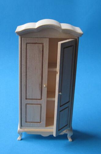 Armoire noyer ou nature poupées meubles pour maison de poupée miniature 1:12
