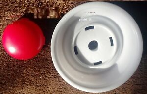 Little Tikes COZY COUPE 30TH ANNIVERSARY CAR WHEEL WHITE HUBCAP RED CENTER CAP