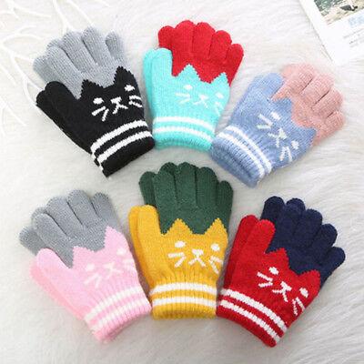 Baby Girls Boys Kids Winter Magic Mittens Gloves Warm Winter Neck String Gloves