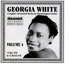 Complete Recorded Works Vol. 4 Georgia White Very Good CD