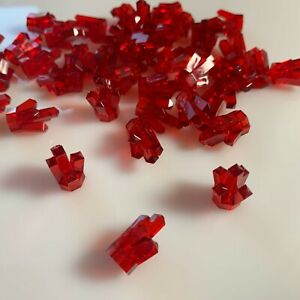 Lego Lot Of 50 Trans Red Gems Diamonds Jewels Stones New