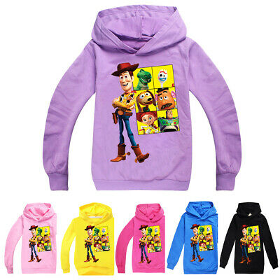 Kids Boys Girls Toy Story 4  Cartoon Hoodies Sweatshirts Casual Clothes Tops UK