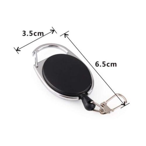 Fly Fishing Tool Zinger Retractor Tool Carabiner Clip Nylon Cord 60CM ABS
