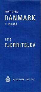 Kort-over-Danmark-1-100-000-Bl-Nr-1217-Fjerritslev-Geodaetisk-Institut-1983