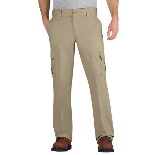Mens Dickies Work Pants Regular Fit Straight Leg Cargo Pockets  WP595