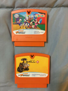 VTech-V-Smile-Motion-Lot-of-2-Disney-Games-Mickey-Mouse-Clubhouse-amp-Wall-E