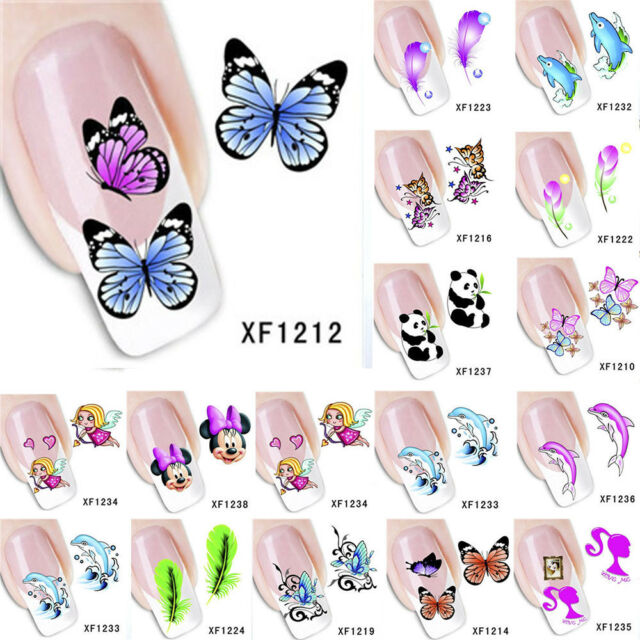 3D Butterfly Nail Art Care Water Decals Stickers DIY Manicure Tips Decoration