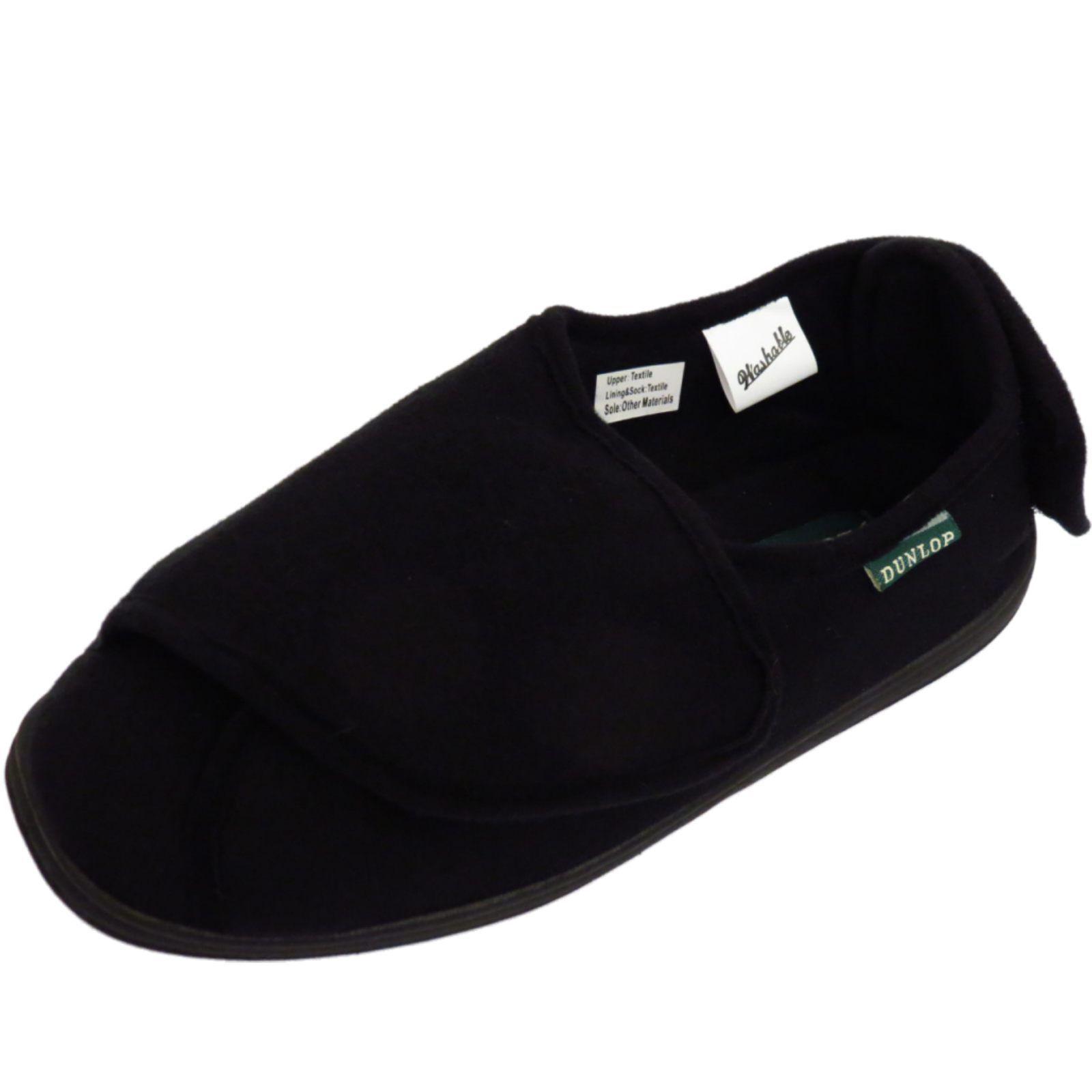 Comfort Negro Wide Hombre Indoor Dunlop Orthopaedic Fit wPBfnRAtq