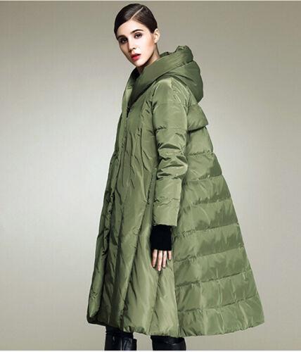 Femmes canard lâche chaudes manteau épais de longue chaud plus la hiver taille manteau veste duvet rtrP1wxqU
