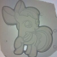 Flexible Resin Chocolate Candy Mold Cute Pony With Bow Mould
