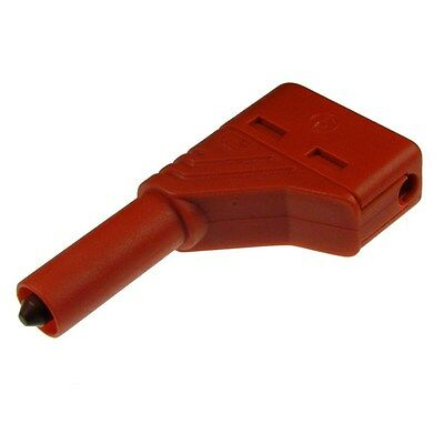 Hirschmann LAS S W Winkelstecker 4mm Sicherheitssystem LAS SW rot 073879