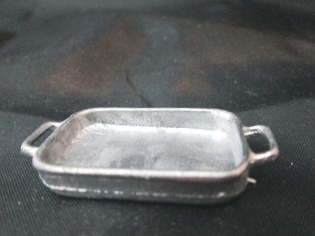 Dollhouse Miniature Unfinished Metal Baking  Pan