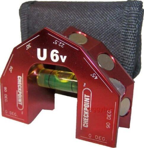 U6 FLAT large vial Earth magnets spirit new CHECKPOINT torpedo level U6V