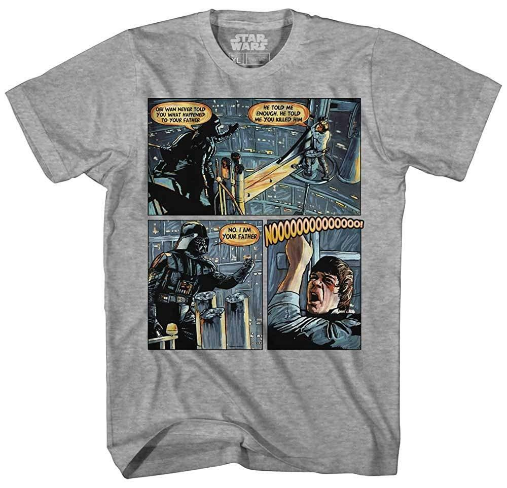 Darth Vader Luke Skywalker I Am Your Father Comic Mens Adult Graphic Tee T-shirt