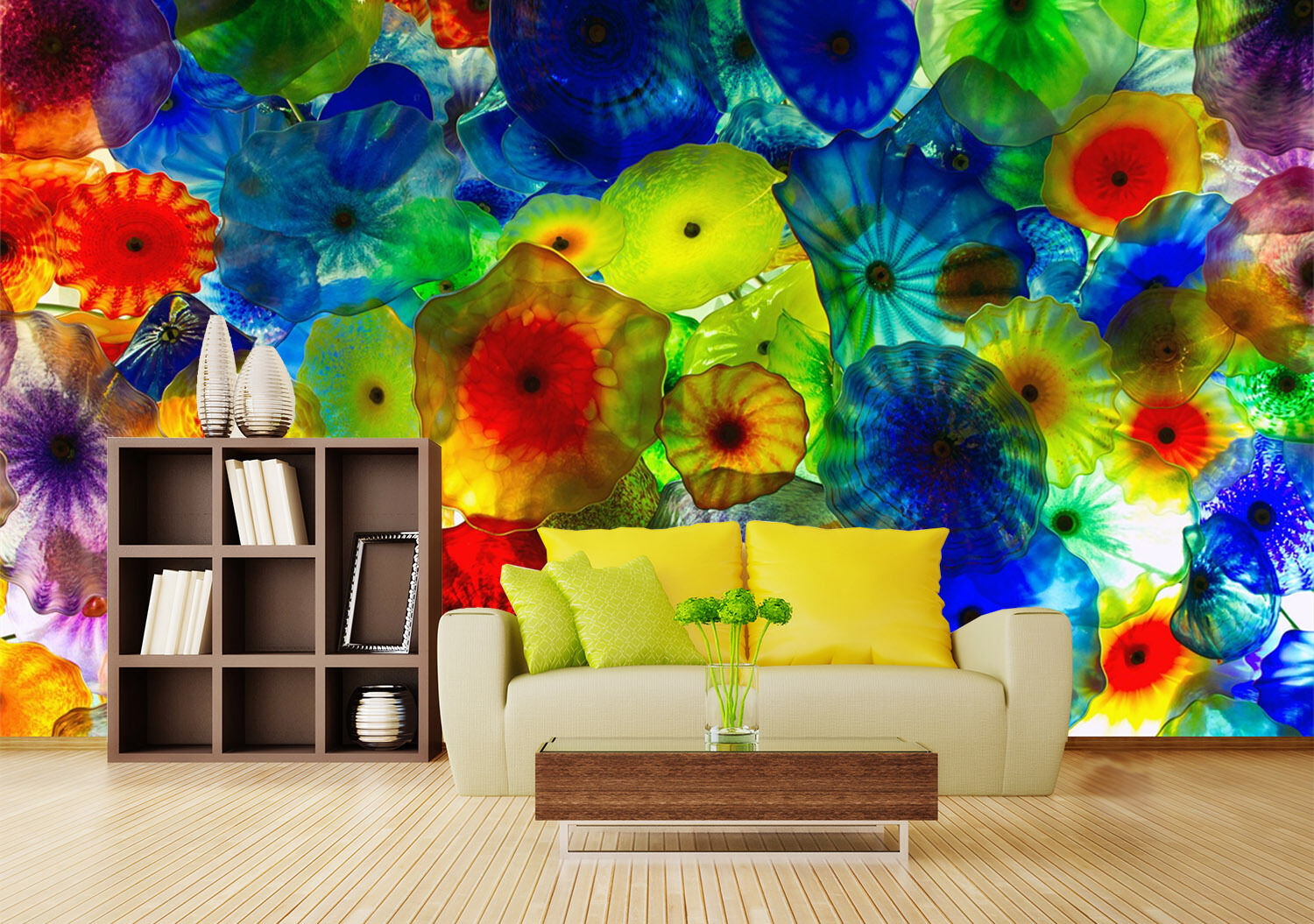 3D color Painted Painted Painted petal 765 Wall Paper Print Decal Wall Deco Indoor wall Mural f08fe9