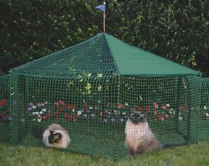 KittyWalk-Gazebo-Yard-and-Garden-Outdoor-Outside-Cat-Dog-Pet-Enclosure