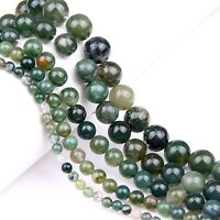 5/10/20/30/40Pcs 4/6/8/10/12mm Aquatic Agate Round Gemstone Loose Spacer Beads