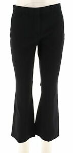 Isaac-Mizrahi-Petite-24-7-Stretch-Boot-Cut-Fly-Front-Pants-Black-10P-NEW-A279254