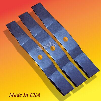 "3 USA XHT BLADES FOR 48/"" JOHN DEERE 7 IRON DECK TCU14939 TCU30315 HD 3/"" WIDE"
