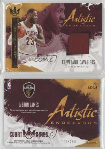 2017-18 Panini Court Kings Artistic Endeavors AE-LJ LeBron James Basketball Card
