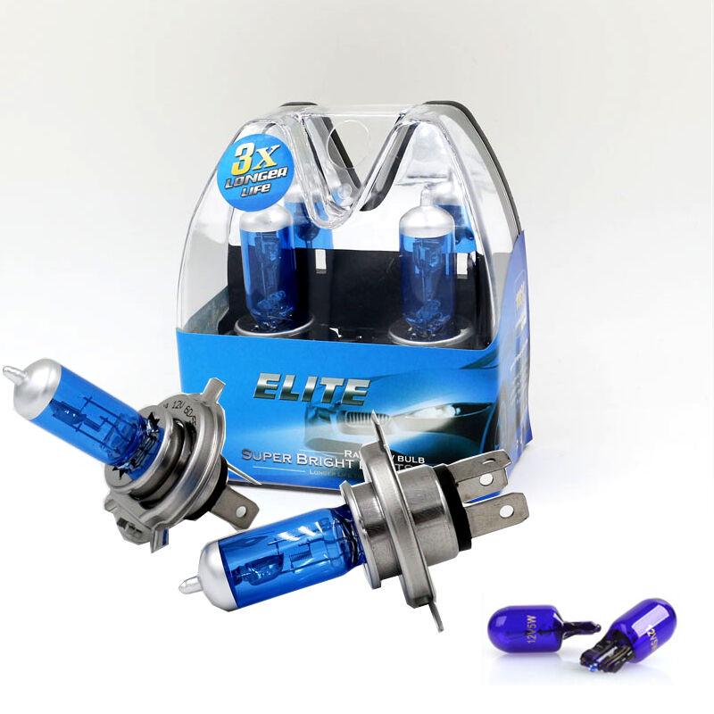 2x Ring H4 12v 60//55w Xenon Plus +30/% Headlight Bulbs 472 RW872
