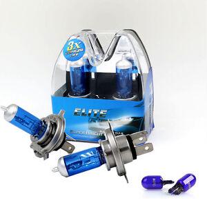 501 8 Led Sidelights Headlight Lamps 472 Bulbs 12v H4 55w Xenon Hid Super Blue