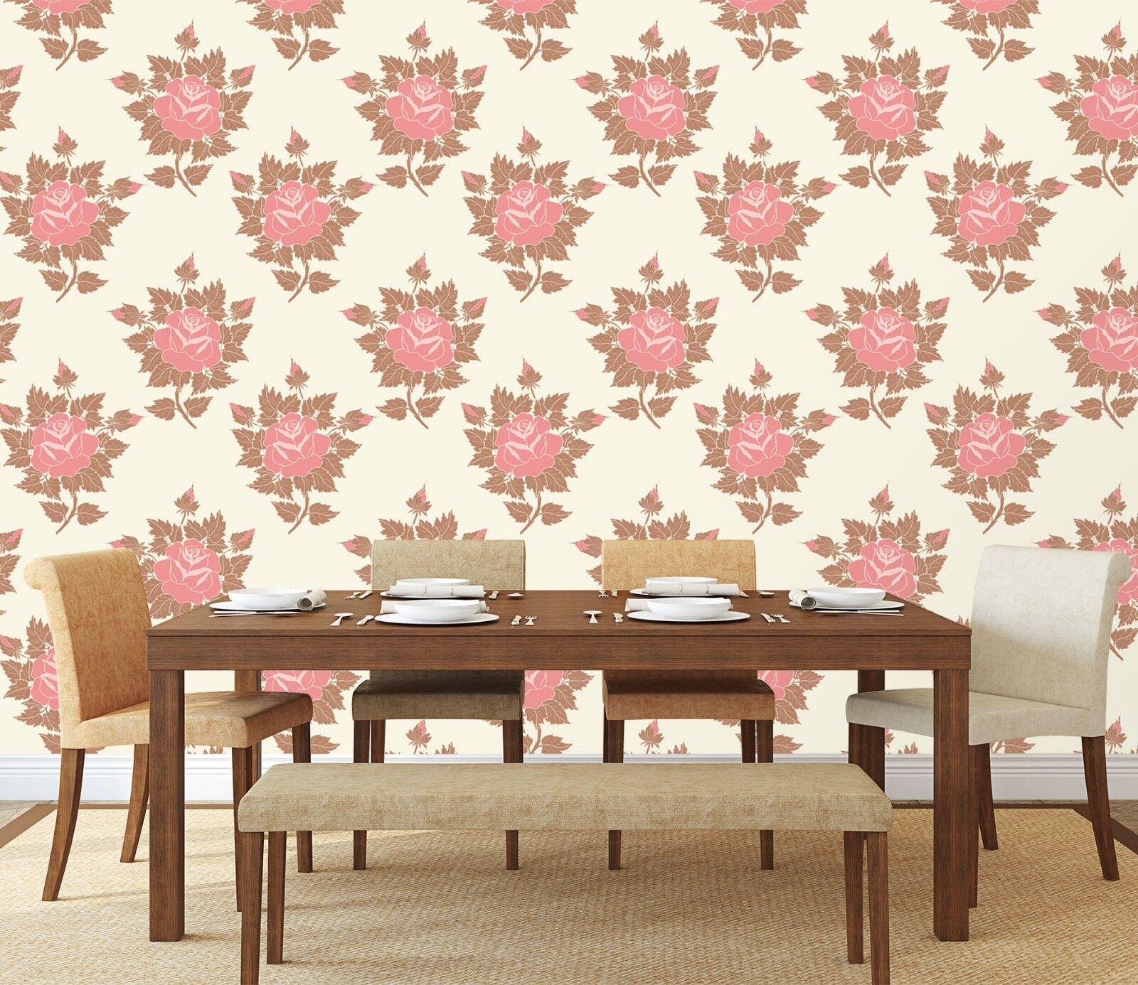 3D Rote Rose Muster 22 Tapete Wandgemälde Tapete Tapeten Familie Kinde DE Lemon