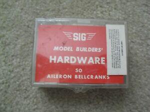 Lot of 40+ Vintage RC Airplane Car Parts SIG Hardware Aileron Bellcranks NIB