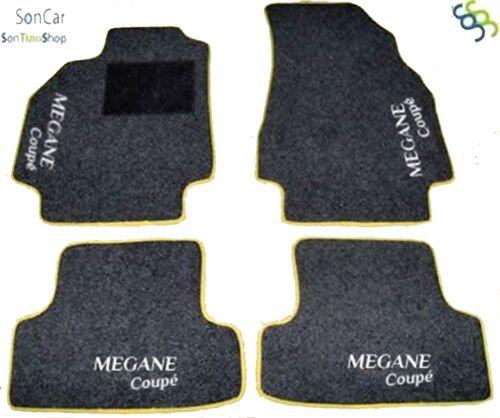 RENAULT MEGANE COUPE/' TAPPETI AUTO 4 decori+4 block
