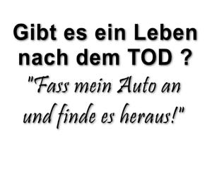 Don-039-t-touch-my-car-Leben-nach-dem-Tod-Autoaufkleber-Aufkleber-decal-24-8156
