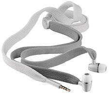 URBAN REVOLT BOOT LACE 2 TONE GREY EARPHONES + MIC, VOL CONTROL, SPARE EARPLUGS