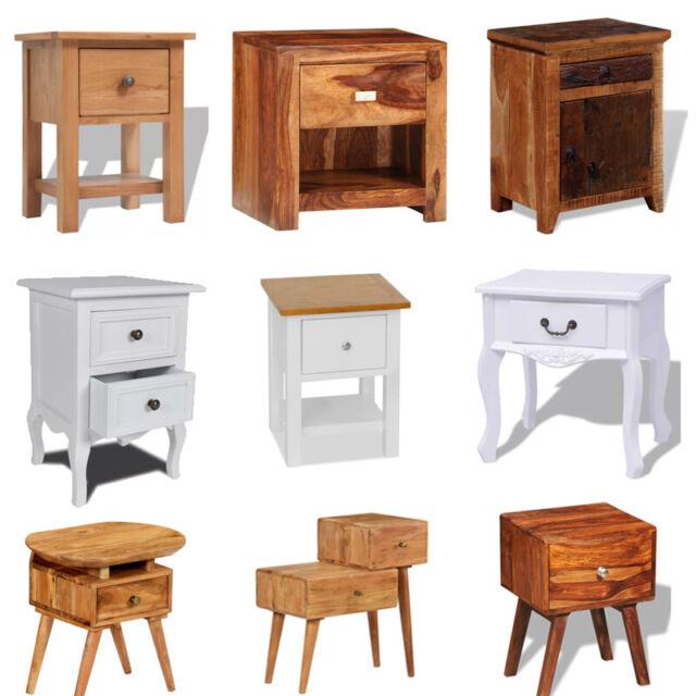 Retro Bedside Cabinet Nightstand End/Side Table Bedroom Furniture Storage Modern