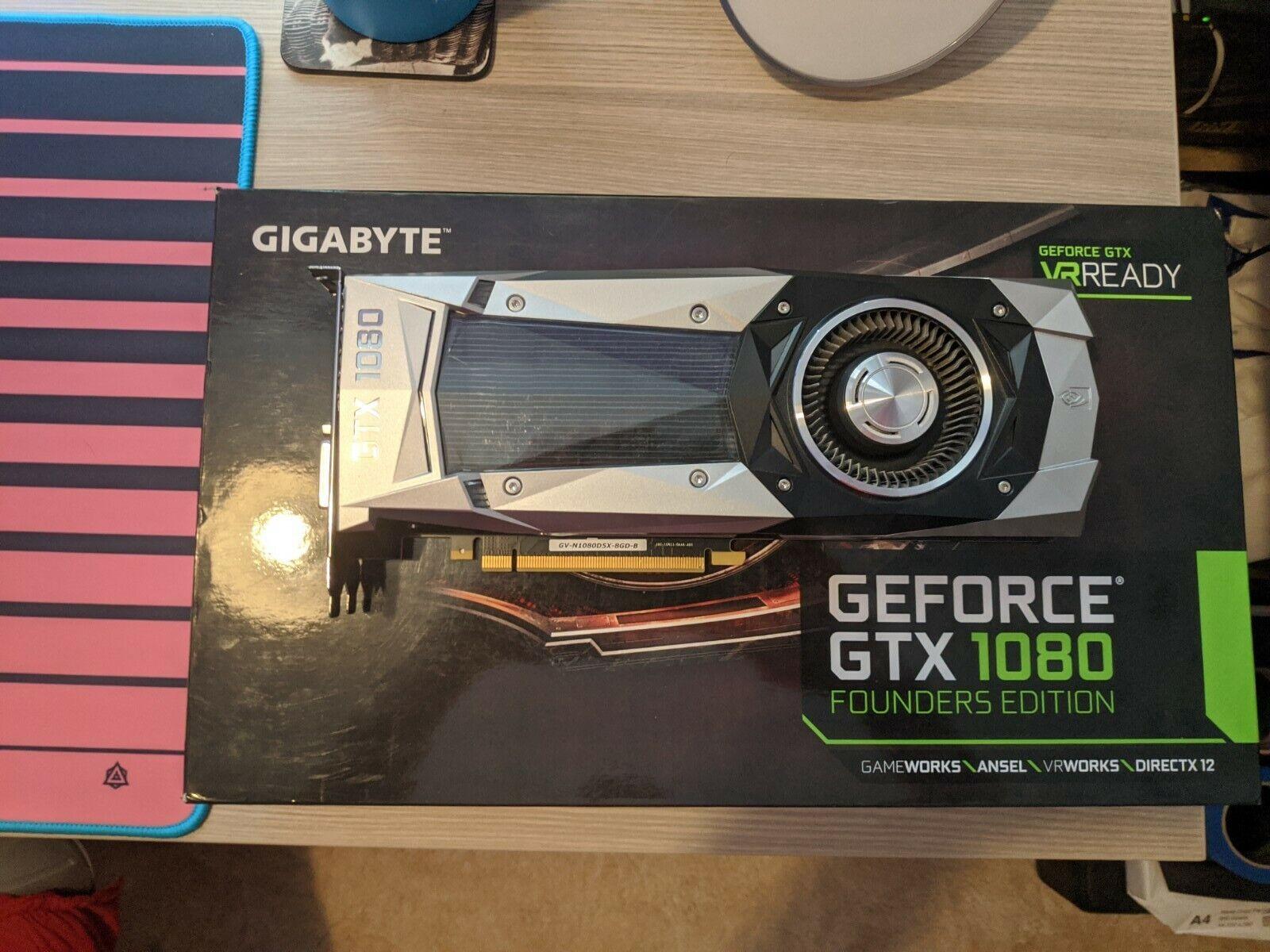 Gigabyte Nvidia GTX 1080 8GB FE Founder's Edition GPU Graphics Card