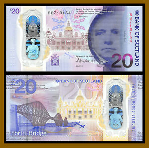 Bank of Scotland Polymer AA SCOTLAND 2019 20 Pounds Pack Fresh UNC Prefix