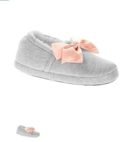 NWT Jojo Siwa Girl/'s Gray Bow Scuff Slippers Size 10 11 12 13 1 2 3 4